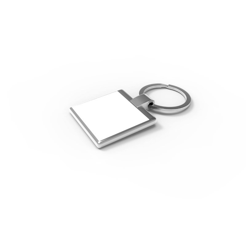 Key Ring Verso Square Zilver