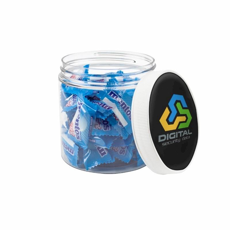 Mentos Jar met full color doming