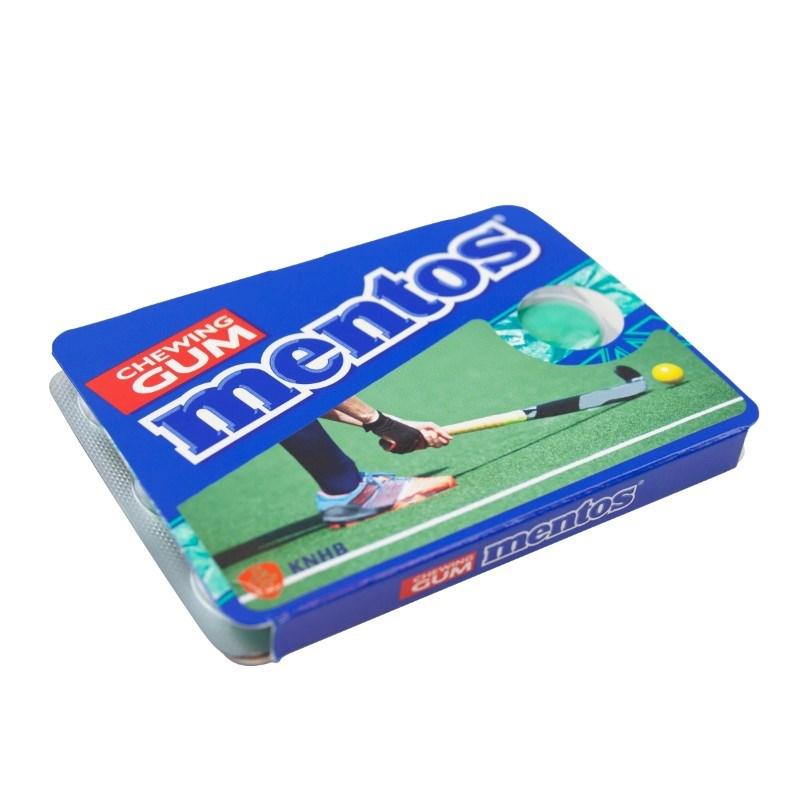 Mentos Pack Cover Elke kleur mogelijk met label met bedrukking in full color