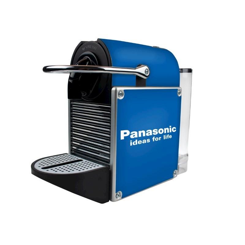 Nespresso Pixie Metal Alu met bedrukking in full color