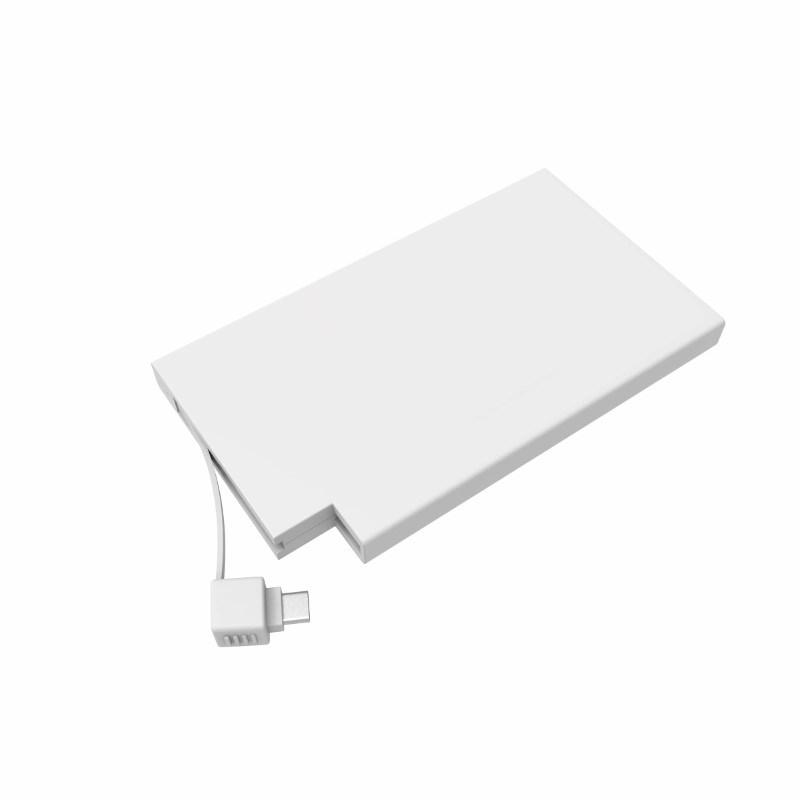Powerbank Rome-C 4000 mAh (Apple&Android) No personalization Elke kleur mogelijk