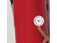 Inspection Sticker 40-45 cm2 met bedrukking in full color