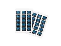 Stickers on A5 sheet met bedrukking in full color