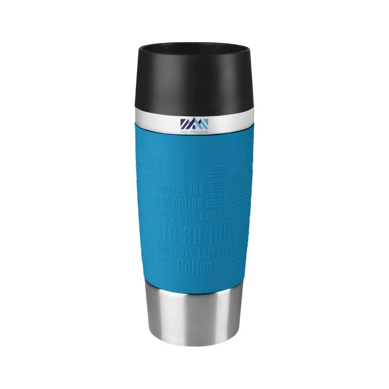 Tefal Travel Mug Max Print Polar Blue met bedrukking in full color