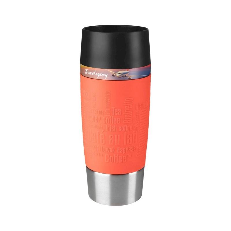 Tefal Travel Mug No personalization Red Peach met bedrukking in full color