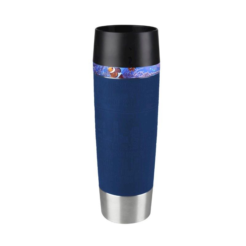 Tefal Travel Mug Grande No personalization Blauw met bedrukking in full color