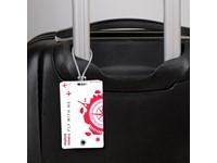 Luggage Tag Wit met bedrukking in full color
