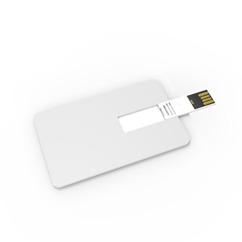 USB Stick Credit Card 2 GB Premium Wit