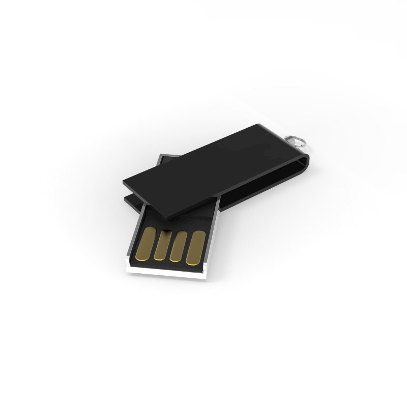 USB Stick Micro Twist 2 GB Basic Zwart
