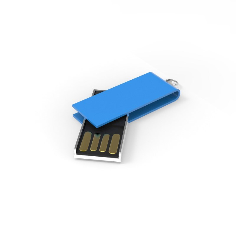 USB Stick Micro Twist 2 GB Basic Kobaltblauw