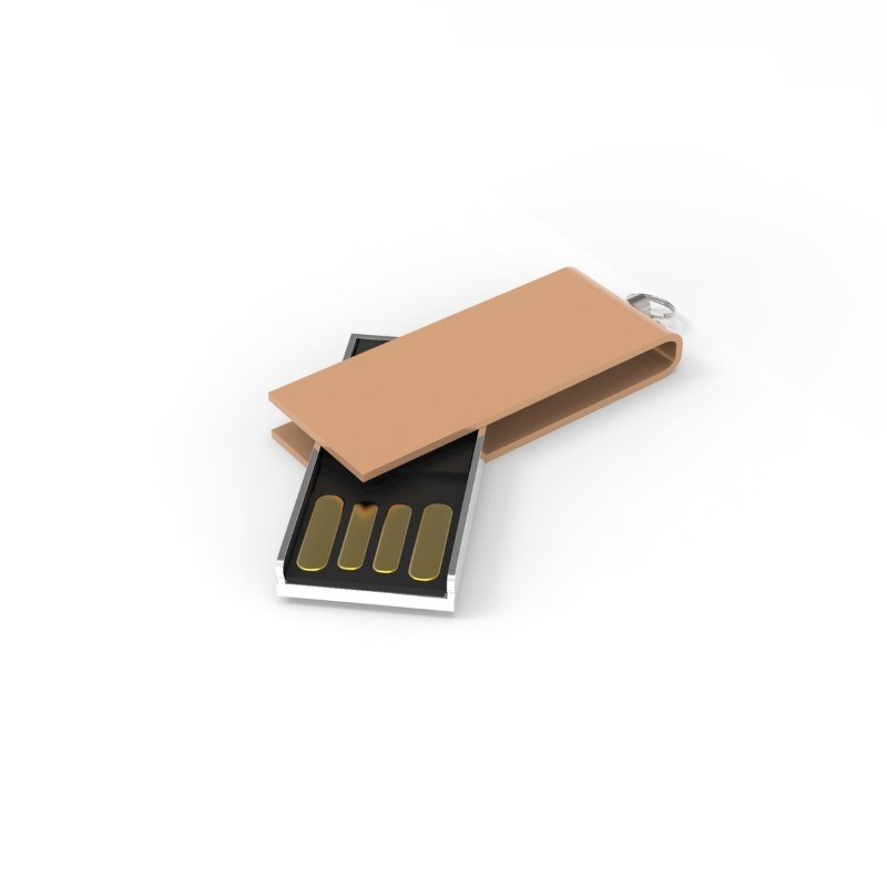 USB Stick Micro Twist 2 GB Basic Goud