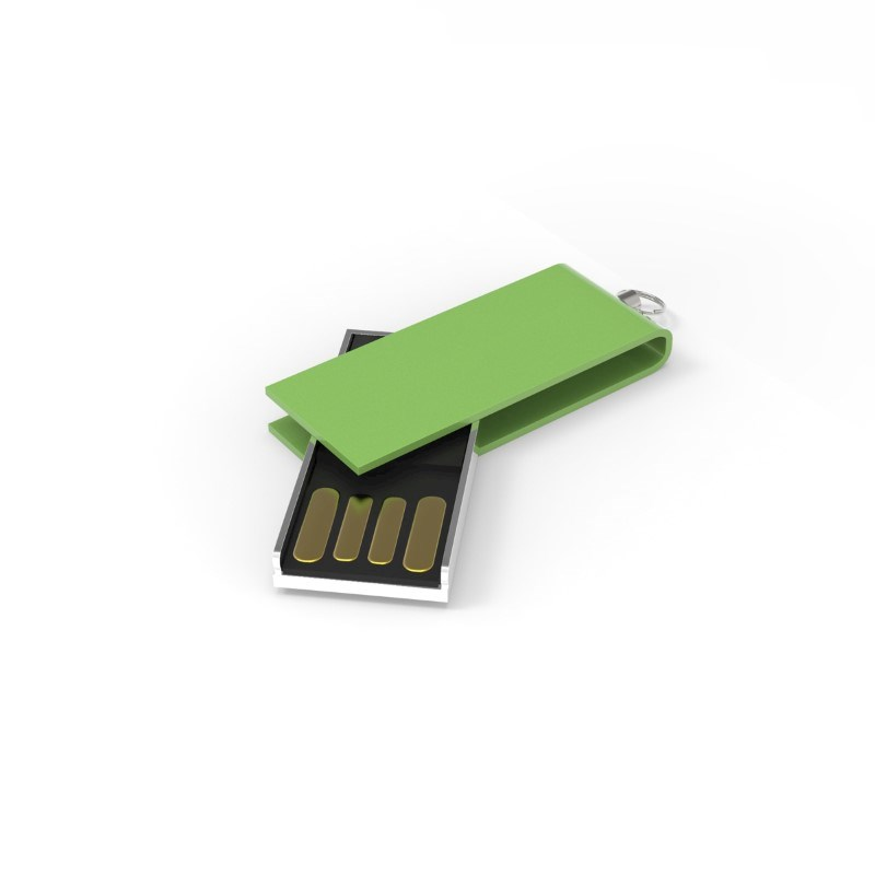 USB Stick Micro Twist 2 GB Basic Limoengroen