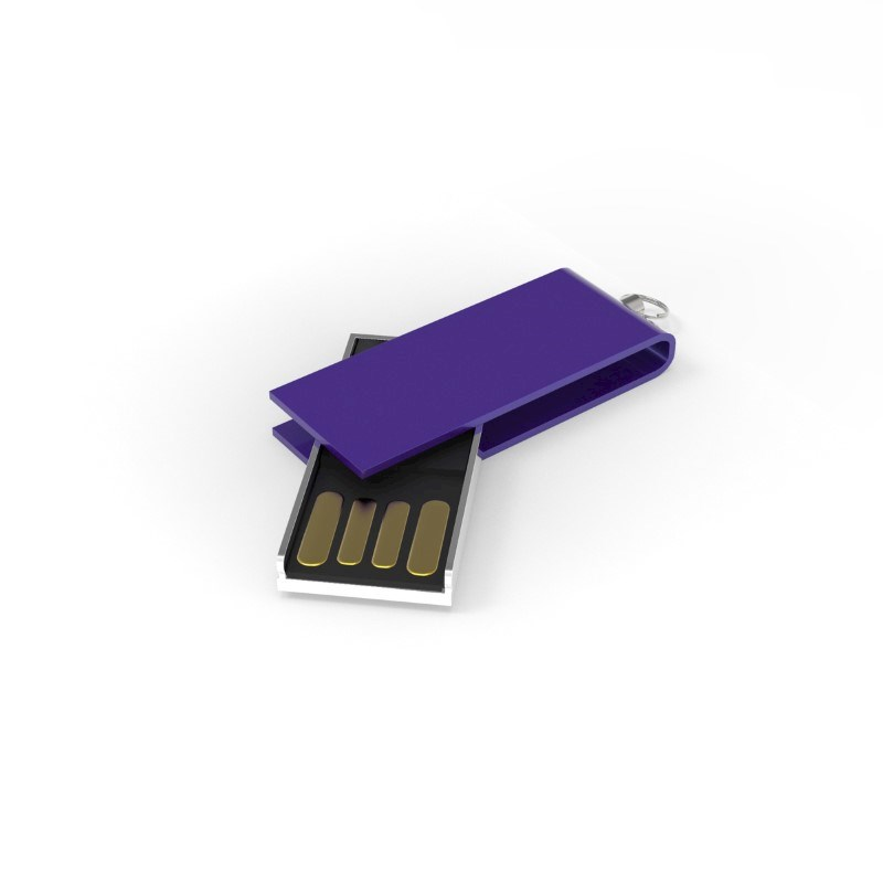 USB Stick Micro Twist 2 GB Basic Paars