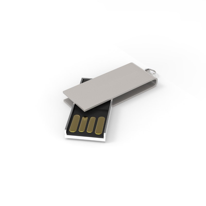 USB Stick Micro Twist 2 GB Premium Zilver