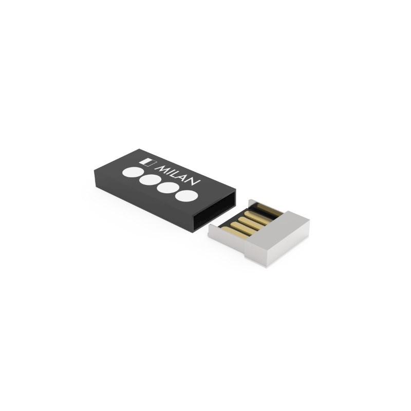 USB Stick Milan 2 GB Basic Zwart met lasergravure