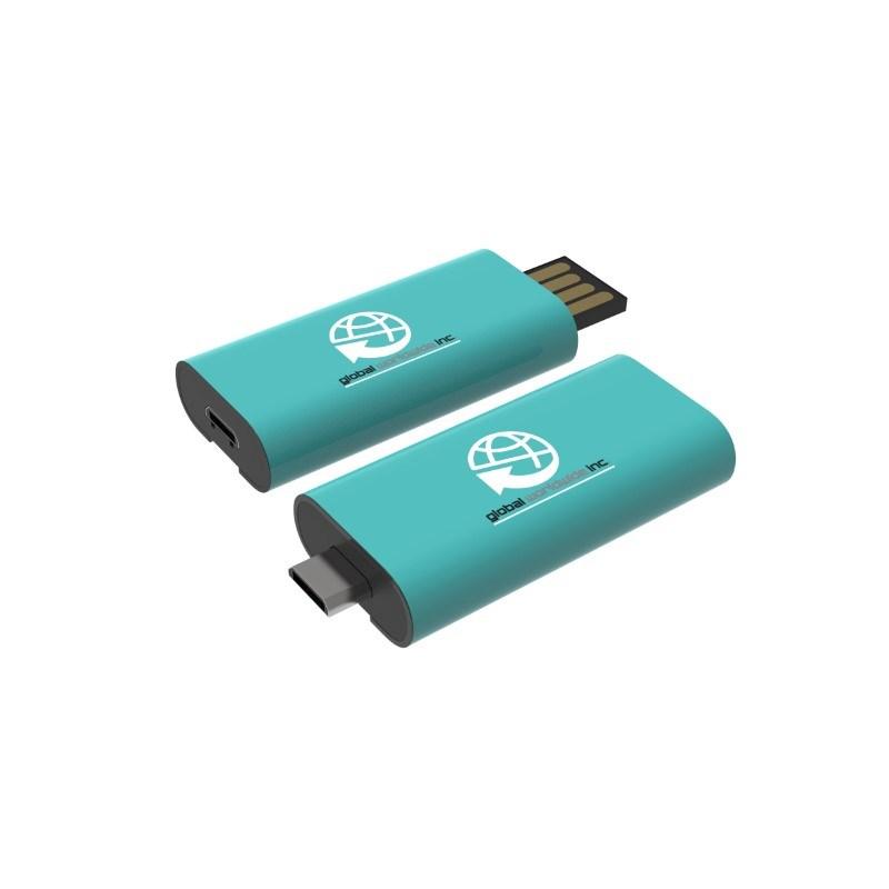 USB Stick OTG Slide 8 GB Premium Zwart met bedrukking in full color