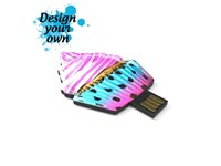 USB Stick Shape Capless 4 GB Basic Zwart met full color doming