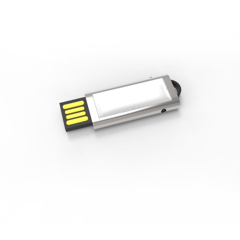 USB Stick Slide 4 GB Premium Zilver
