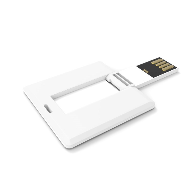 USB Stick Square Card 2 GB Premium Wit