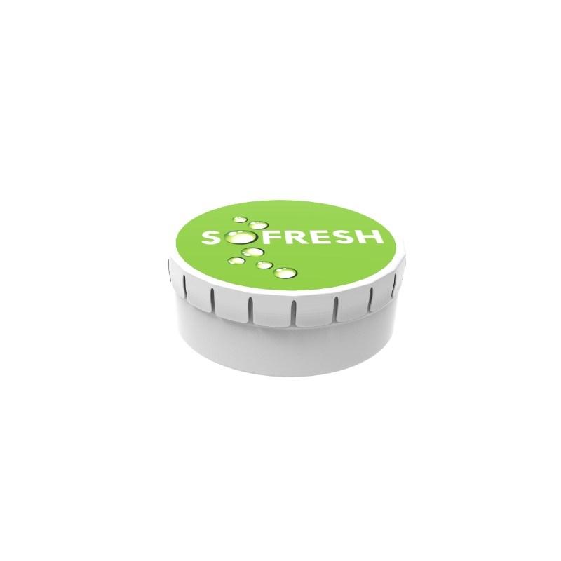 Mints Click Box Label with full color print Wit met label met bedrukking in full color