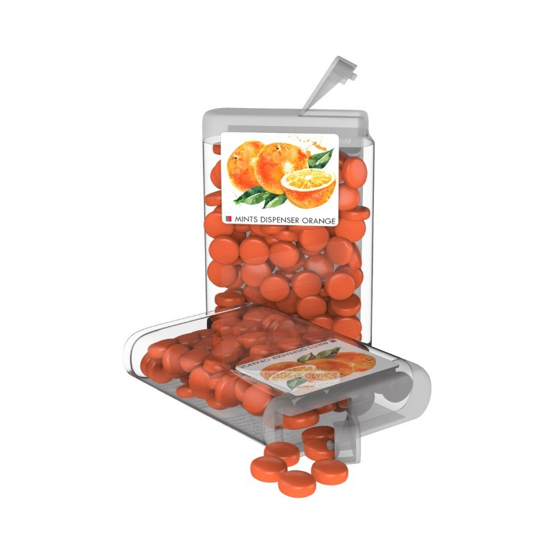 Vip Sweets Orange Transparant met label met bedrukking in full color
