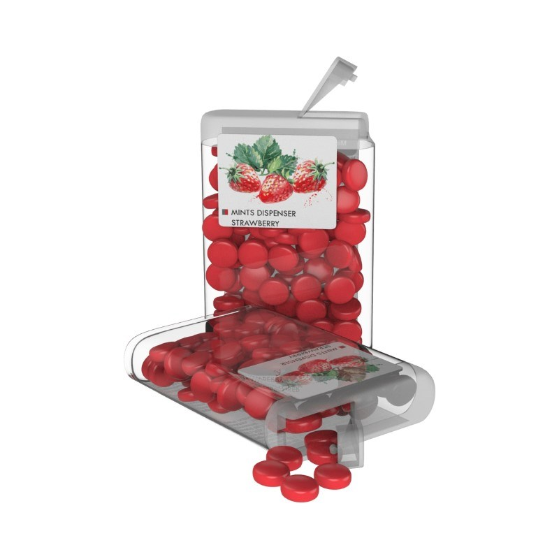 Vip Sweets Strawberry Transparant met label met bedrukking in full color