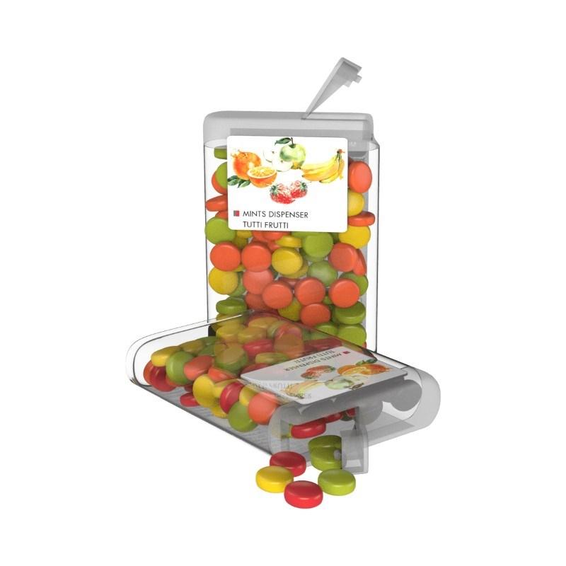 Vip Sweets Tutti Frutti Transparant met label met bedrukking in full color