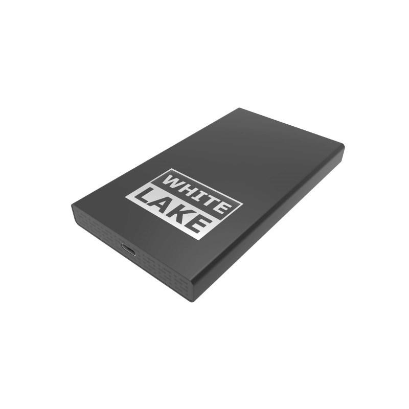 White Lake Pro External HDD 500GB Zwart met lasergravure
