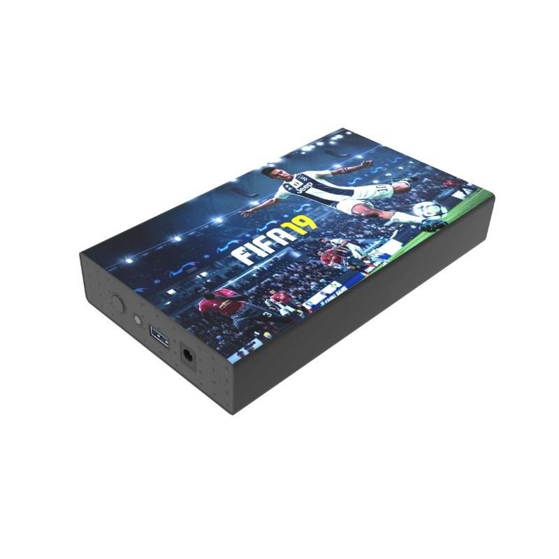 White Lake Ultra External HDD 4TB Zwart met bedrukking in full color