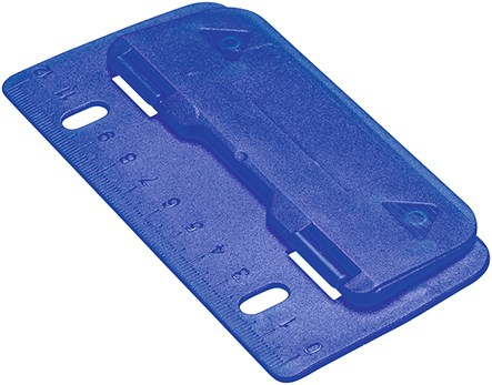 hole punch in blue