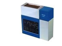 POWERplus Racoon Solar USB Oplaadbare Klok / Wekker / Thermometer / Kalender