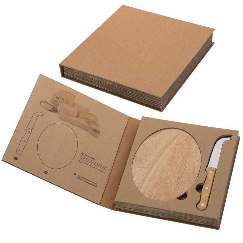 Kaasset met houten plank