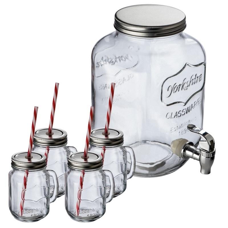 Glazen drinkset