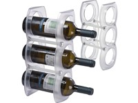 Plastic wine rack for three bottles