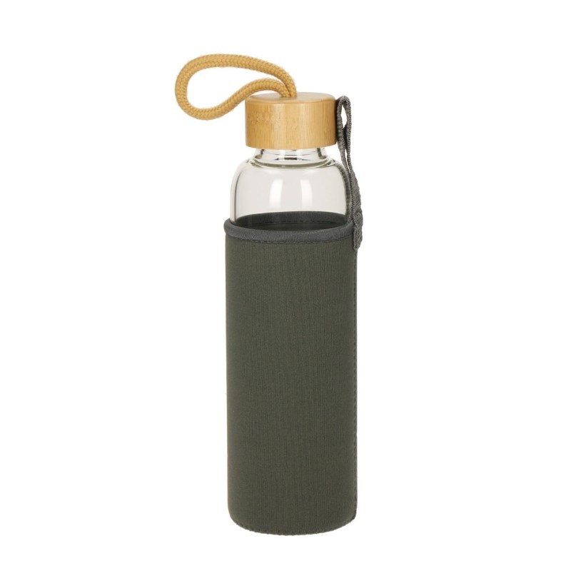 Glass bottle with sleeve