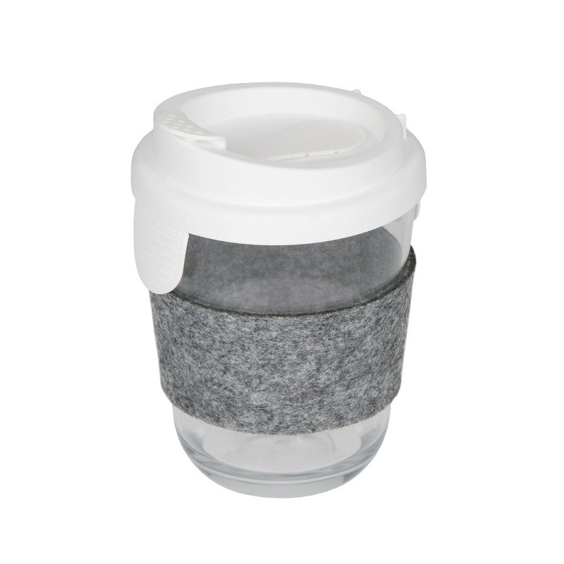 Coffee cup glass effect with sleeve