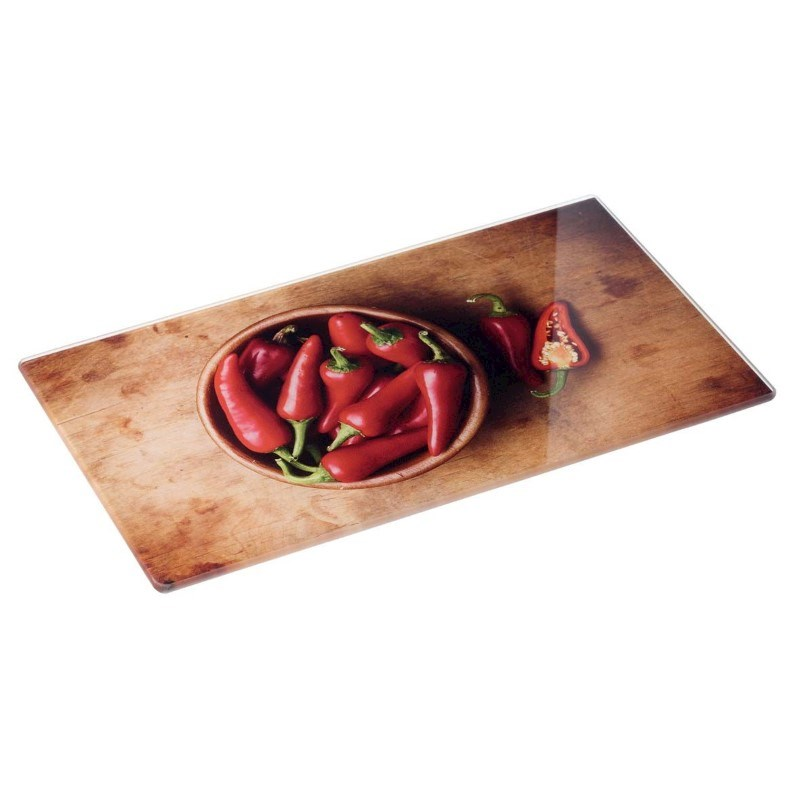 Chopping board of glass