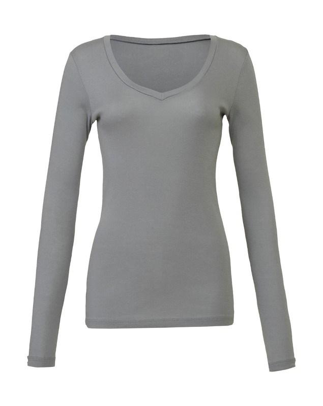 Sheer LS V-Neck T-Shirt