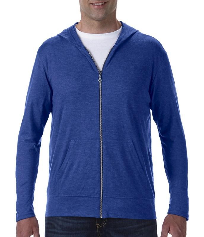 Adult Tri-Blend Full Zip Hooded Jacket