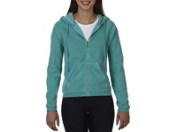 Ladies` Full Zip Hooded Sweatshirt