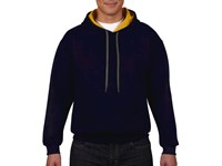 Heavy Blend Adult Contrast Hooded Sweat