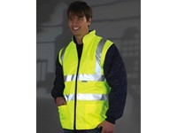 Fluo Quilted Jacket with Zip-Off Sleeves