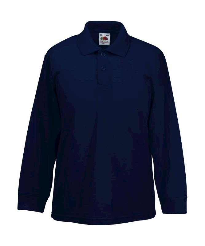 Kids 65/35 Long Sleeve Polo