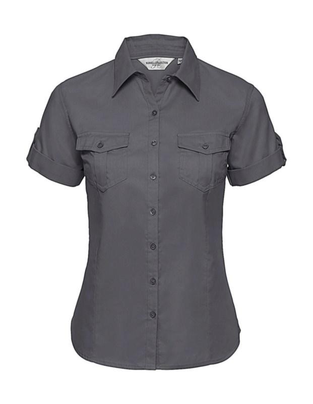 Ladies` Roll Sleeve Shirt