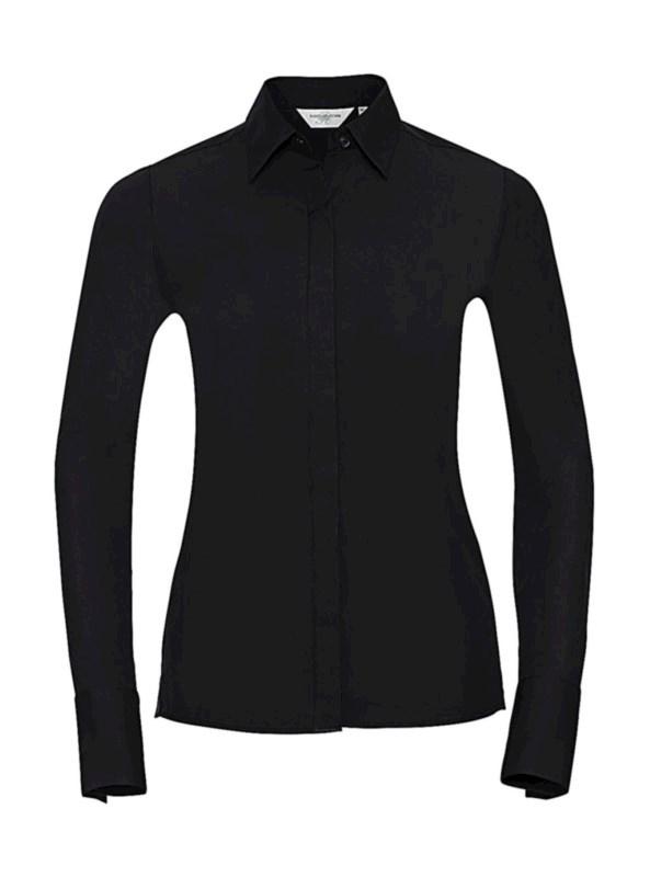 Ladies` LS Ultimate Stretch Shirt