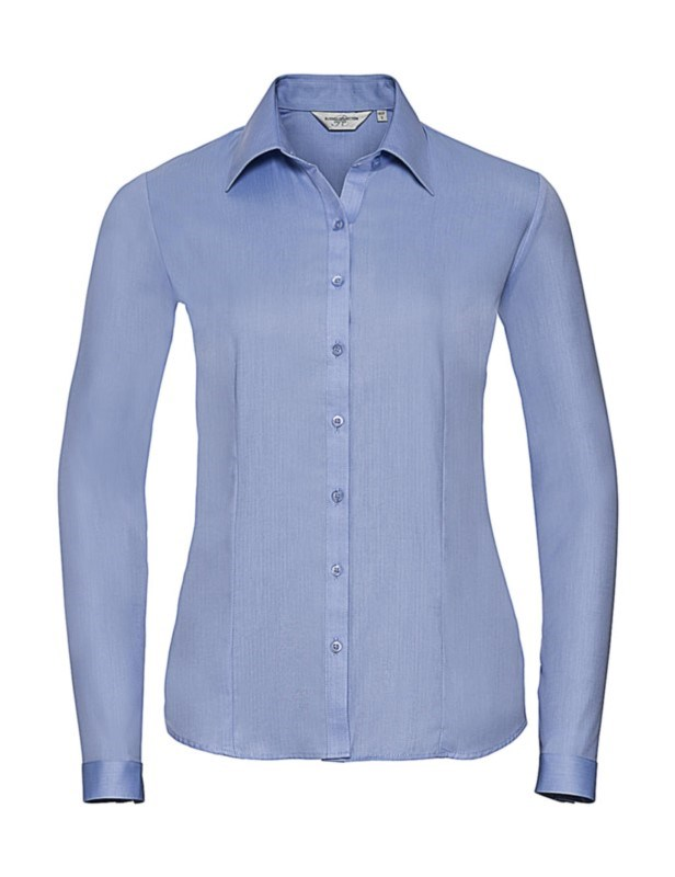 Ladies` LS Herringbone Shirt