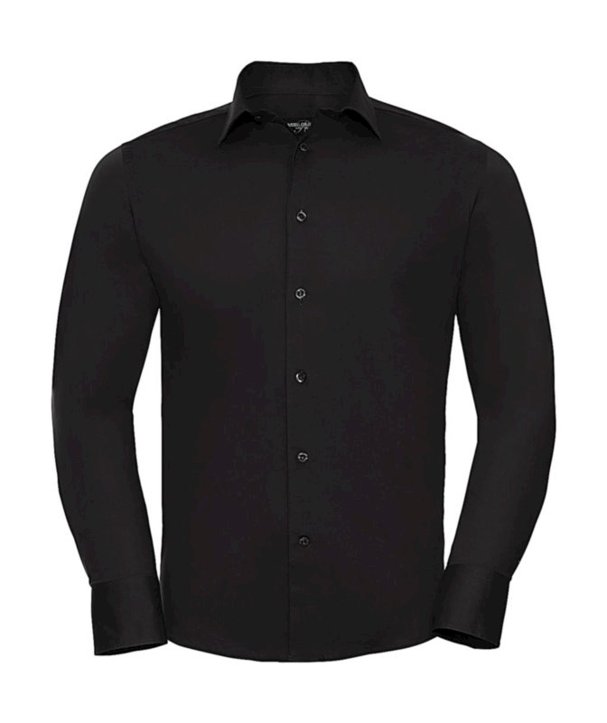 Fitted Long Sleeve Stretch Shirt