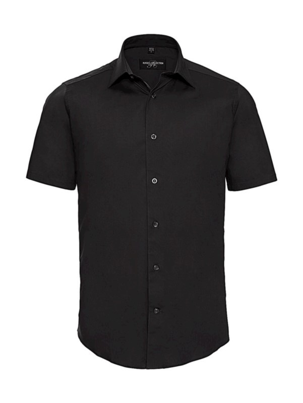 Fitted Short Sleeve Stretch Shirt