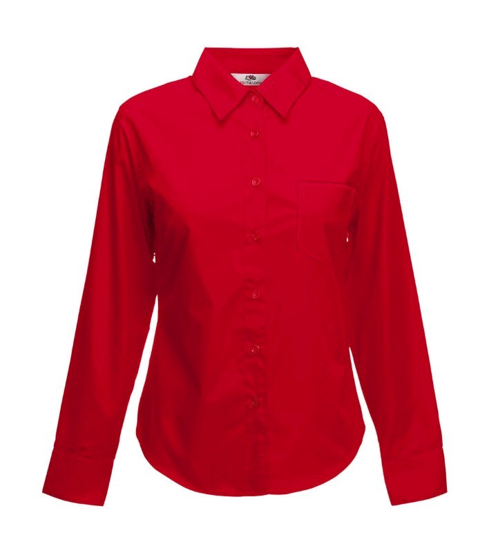 Ladies Poplin Shirt LS