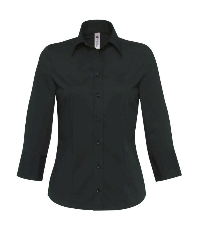 Milano/women Popelin Shirt 3/4 sleeves